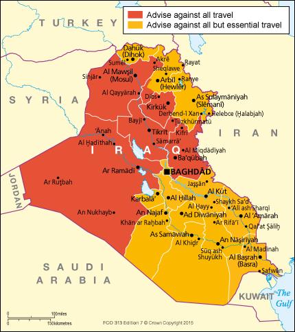 Iraq travel advice GOVUK