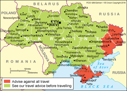 ukraine travel advice gov