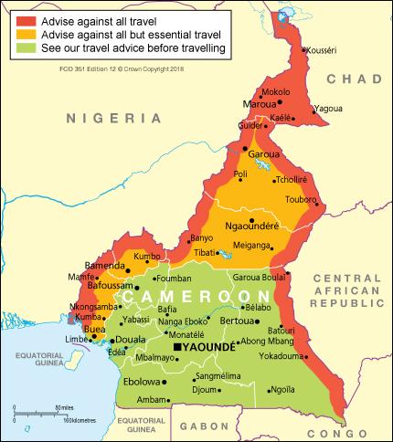 Cameroon travel advice GOVUK