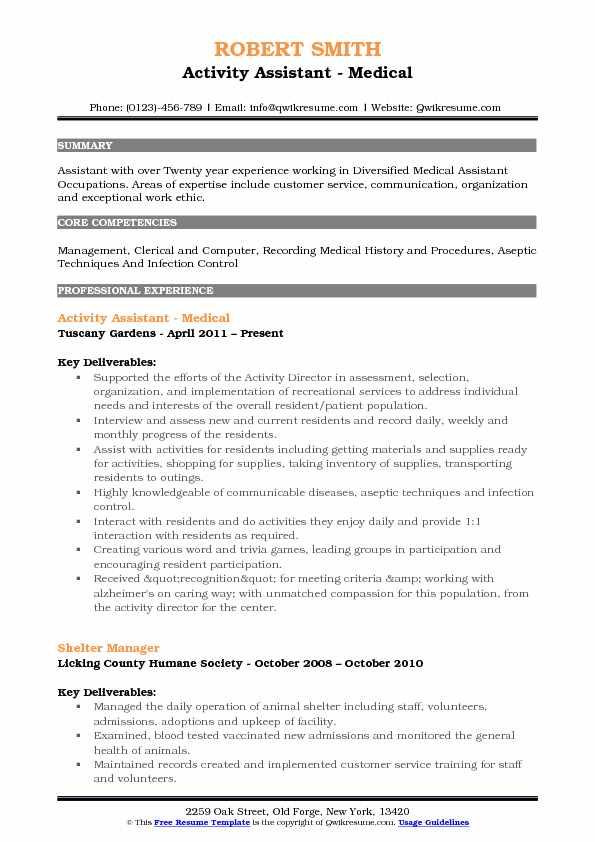 samples of communication skills on medical assistant resume