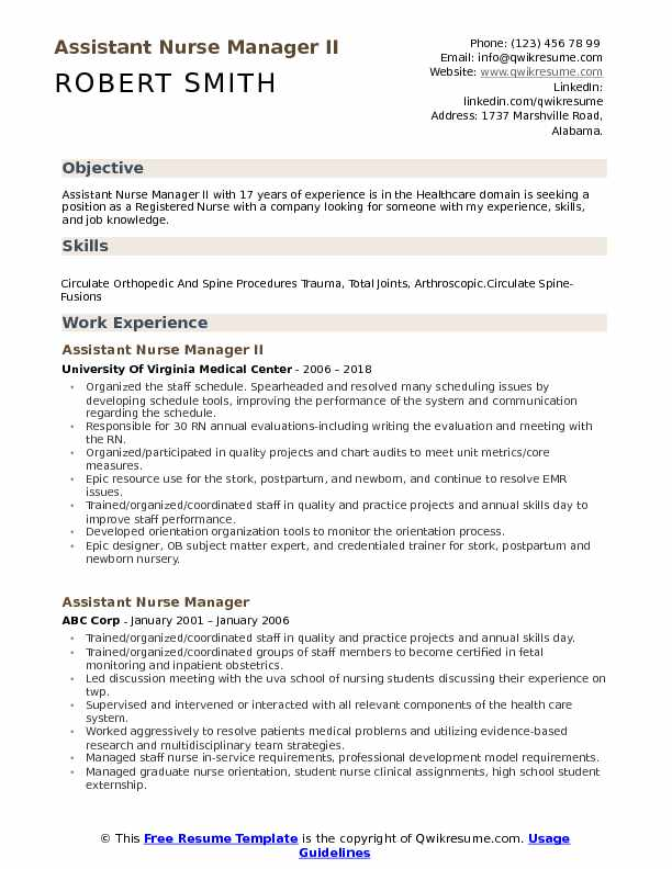 assistant manager resume format