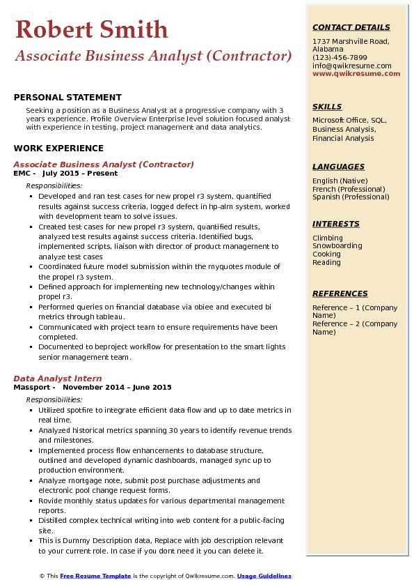 resume of 3 years experience in testing