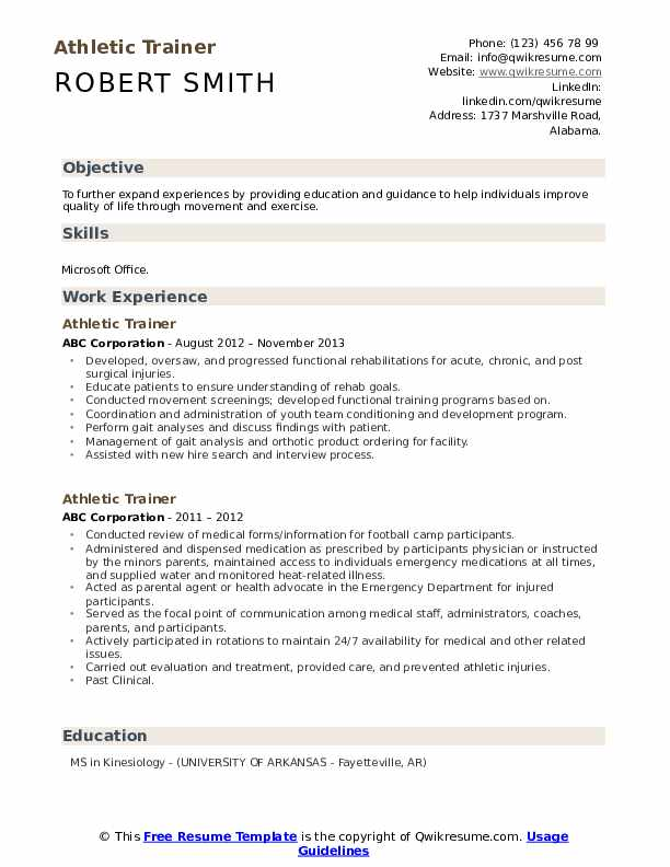 exercise science resume samples