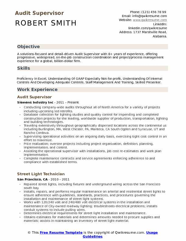 resume objective samples for construction