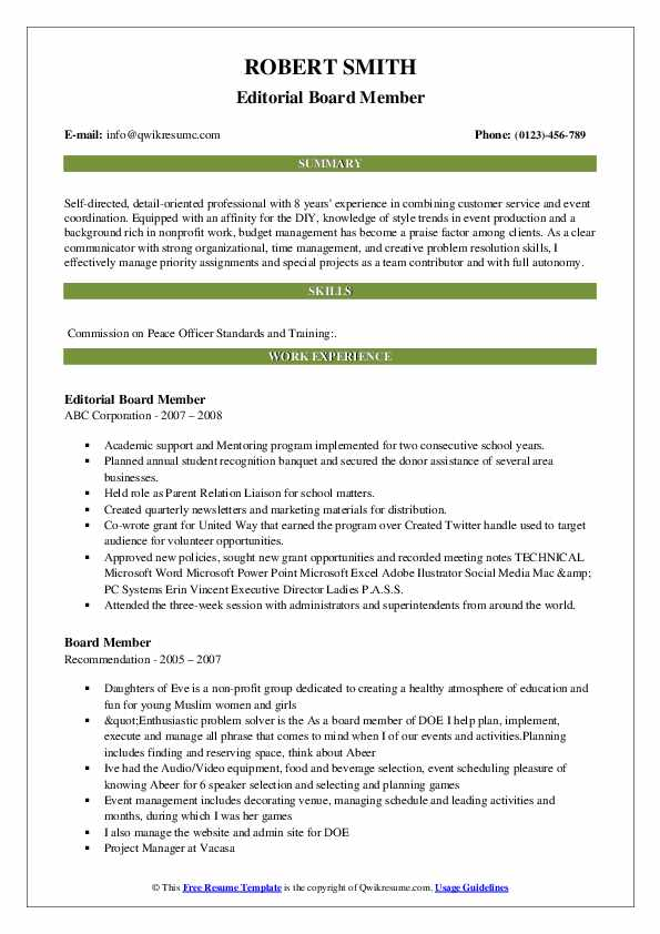 resume examples for it position