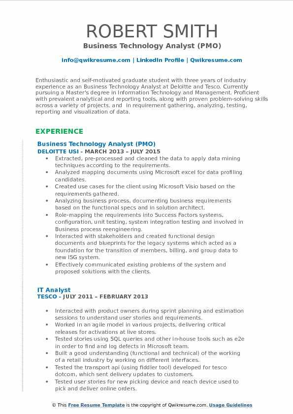 Pmo Analyst Sample Resume Professional Pmo Analyst Resume