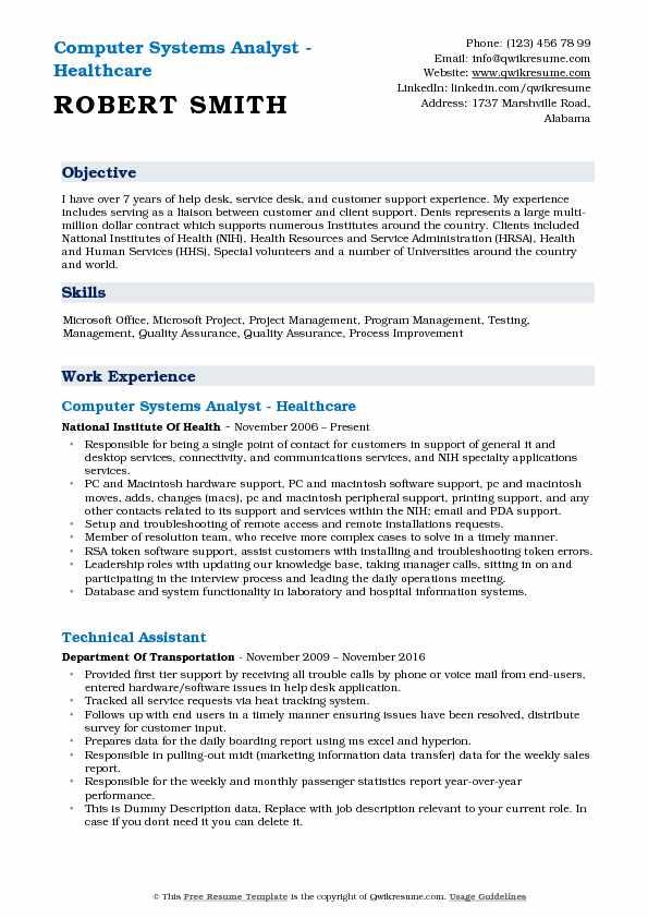 Desktop Support Resume Format