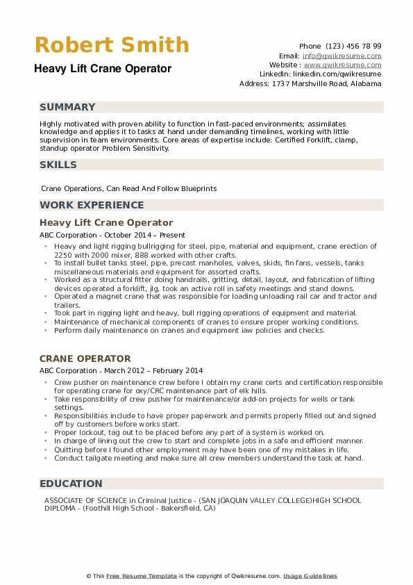 example resume pdf free