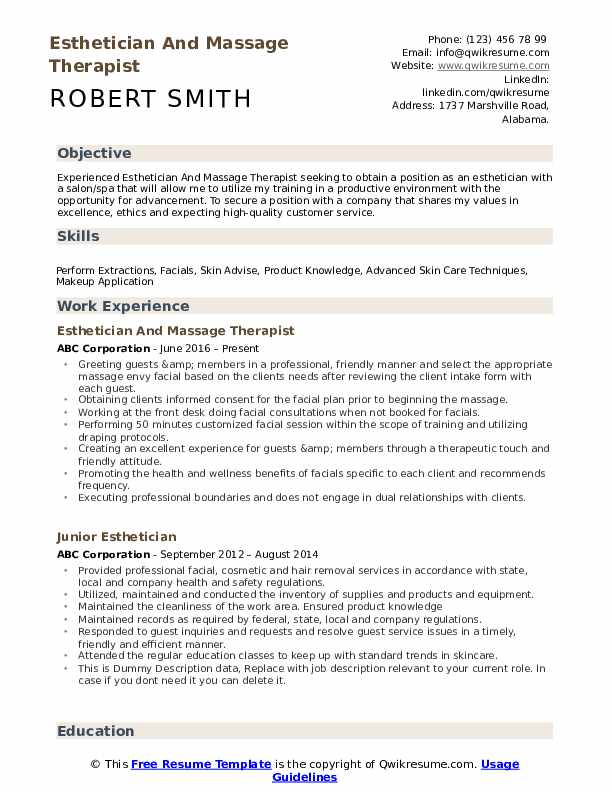 esthetician resume no experience  resume sample