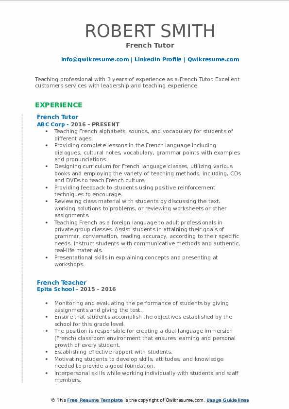 interactive pdf resume examples