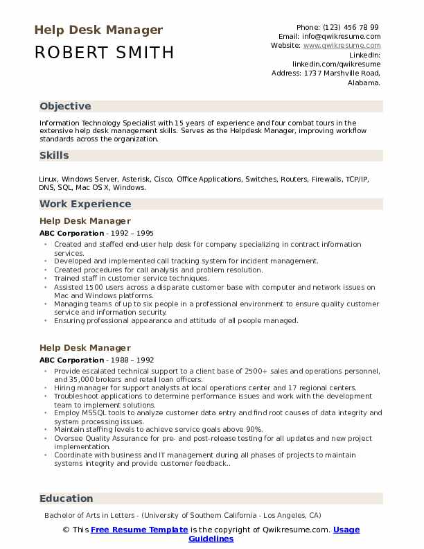 Front desk agents may work in hotels and resorts, medical and legal offices or for private businesses. Help Desk Manager Resume Samples Qwikresume