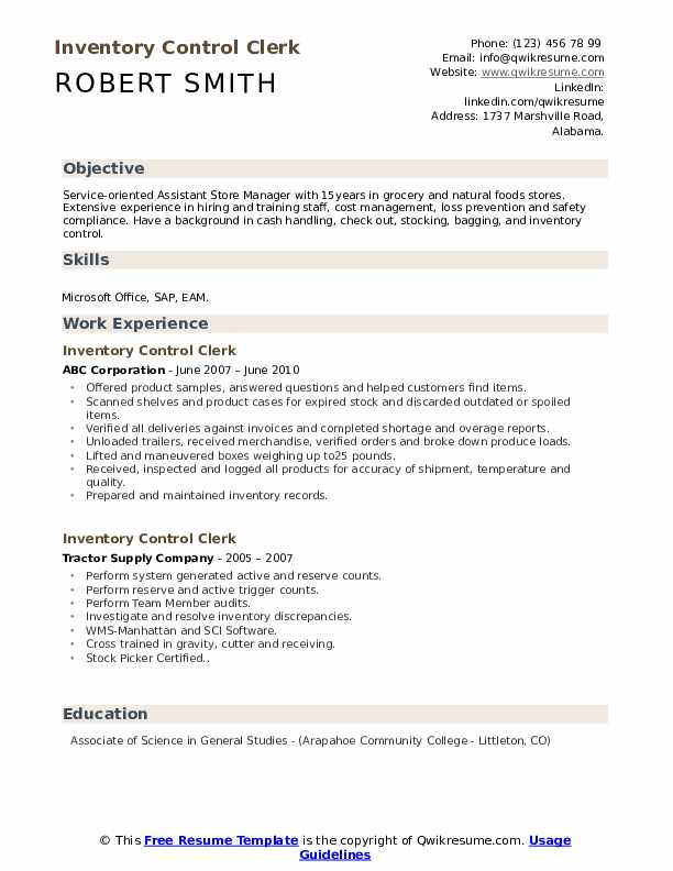 resume template pdf for bagging