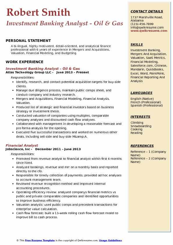 resume metrics