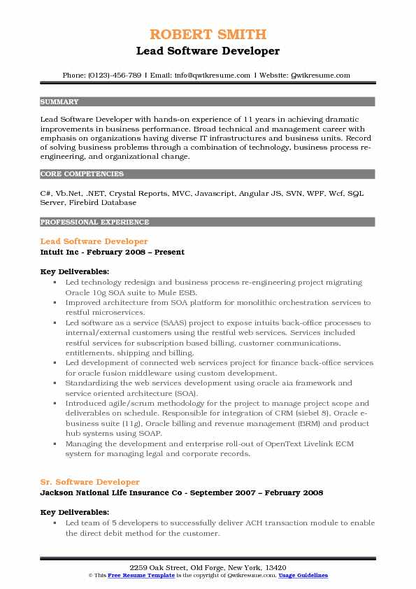 Middleware Developer Resume Samples