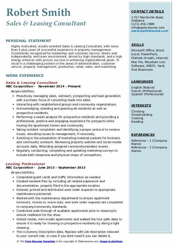 resume consultant service