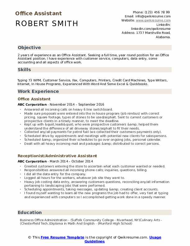 Is your resume as powerful as it should be? Office Assistant Resume Samples Qwikresume