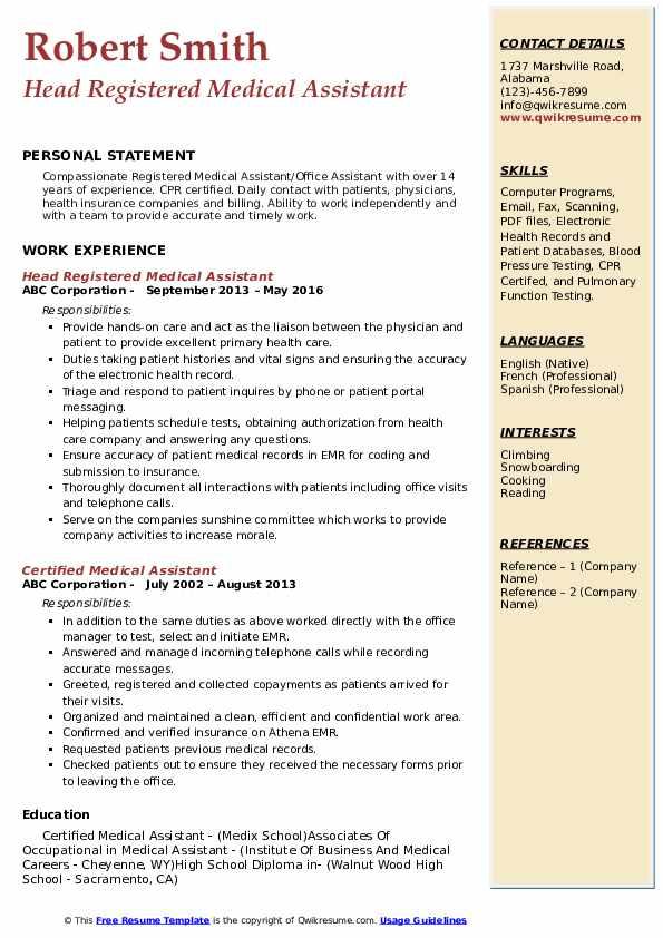 resume preparation model pdf