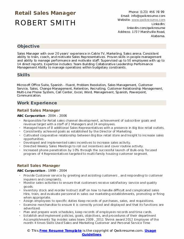 Channel Sales Manager Resume - Resume Examples | Resume Template