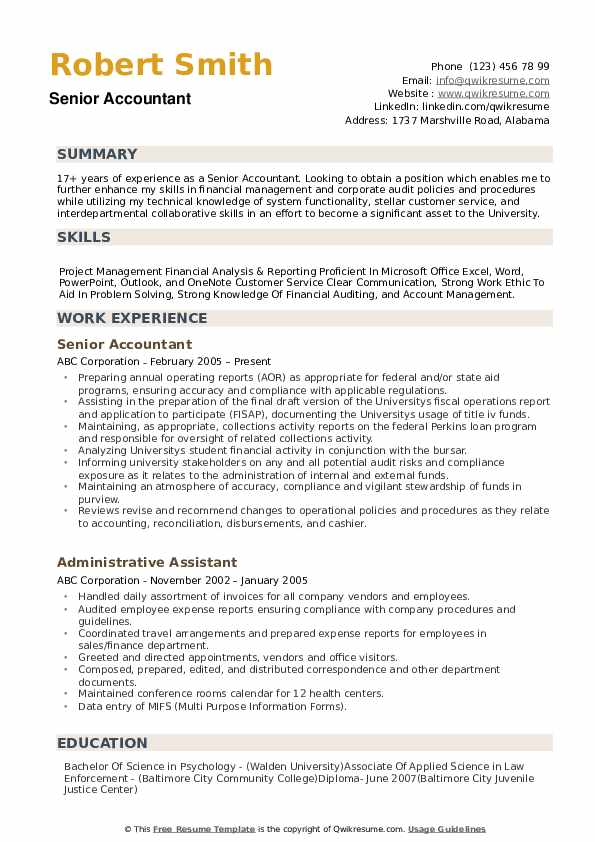 great resume samples accounting