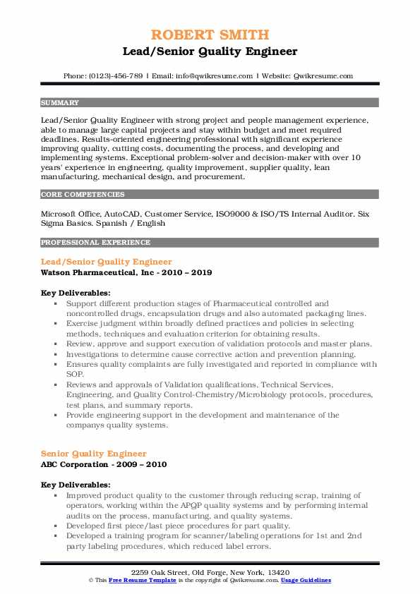 resume summary description