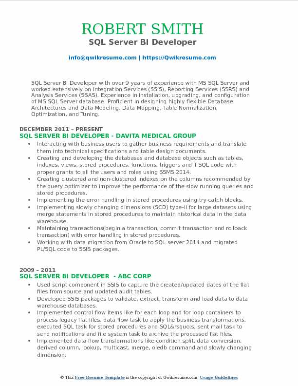 ssis sample resume related post ssis ssas ssrs sample resume 2013