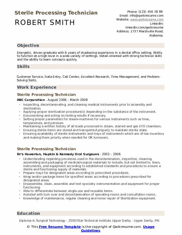 resume example for shadowing experience