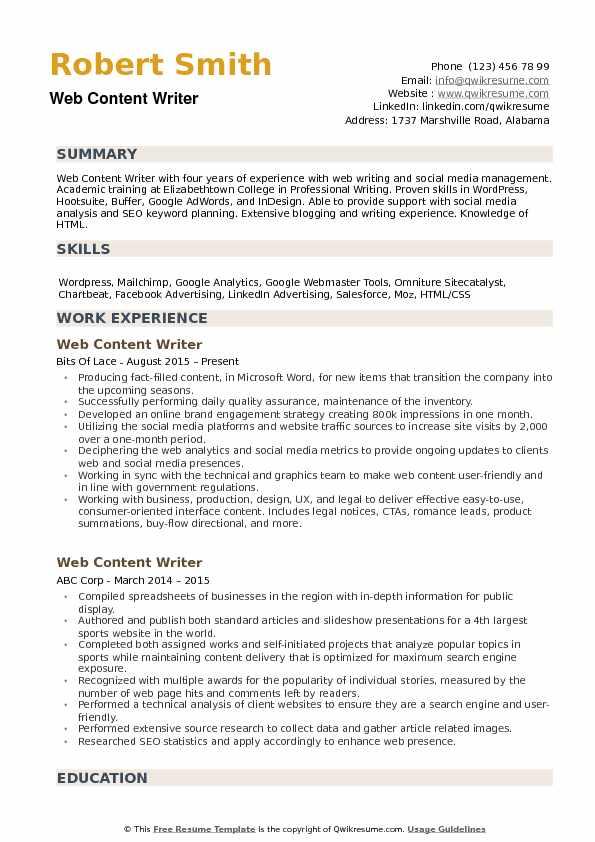 resume writer needed