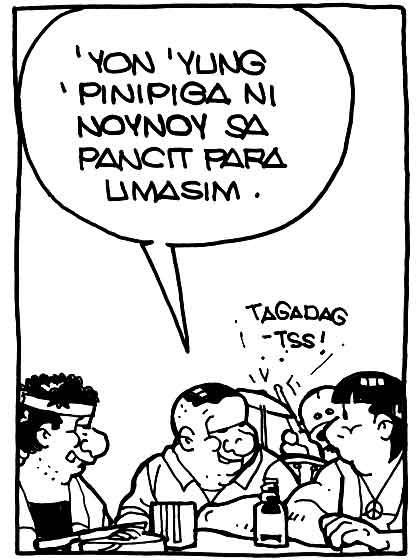 #PugadBaboy: Tomas being Jay Leno