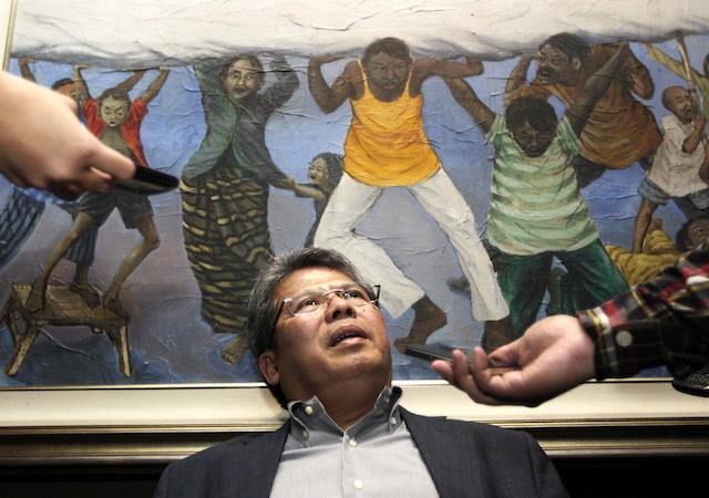 Pengacara senior Todung Mulya Lubis akan menjadi salah satu jaksa senior di International People Tribunal untuk keluarga korban pembantaian 1965 di Den Haag, Belanda, pada 10-13 November 2015. Foto oleh Bagus Indahono/EPA