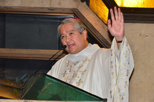 ADVICE TO PRIESTS. Lingayen-Dagupan Archbishop Socrates Villegas, who is also president of the Catholic Bishops' Conference of the Philippines. File photo by Noli Yamsuan/Archdiocese of Manila/CBCPNews