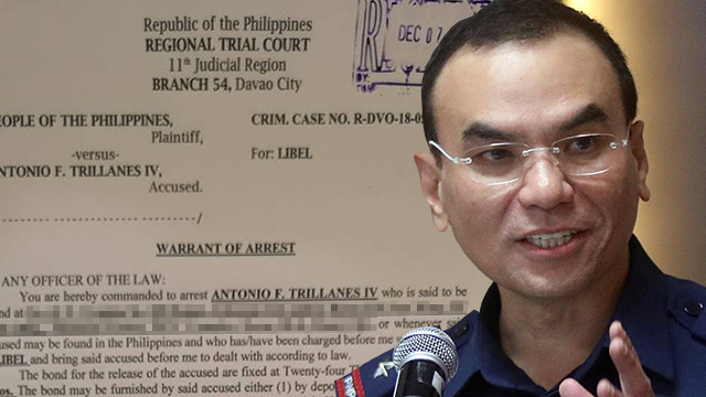 WARRANTING A DELIVERY. Metro Manila police chief Guillermo Eleazar is asking for the warrant to arrest Senator Antonio Trillanes IV to be delivered from Davao through a courier. File photo of Eleazar from Darren Langit/Rappler