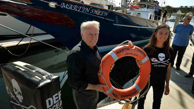 Actor Martin Sheen Lends Name To Conservation Group Boat