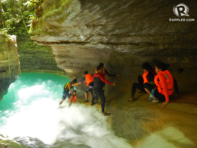 CANYONEERING IN BADIAN. Scale rocks and jump off cliffs and waterfalls for an extreme adventure experience. Photo courtesy of Sheilamei Abellanoza and Gian Carlo Jubela