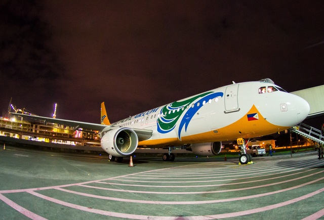 NEW AIRCRAFT. This is the 3rd of 4 Airbus A320 aircraft that the airline is set to receive this year, Cebu Pacific announces on Monday, September 28, 2015. Photo from Ajig Ibasco / Cebu Pacific