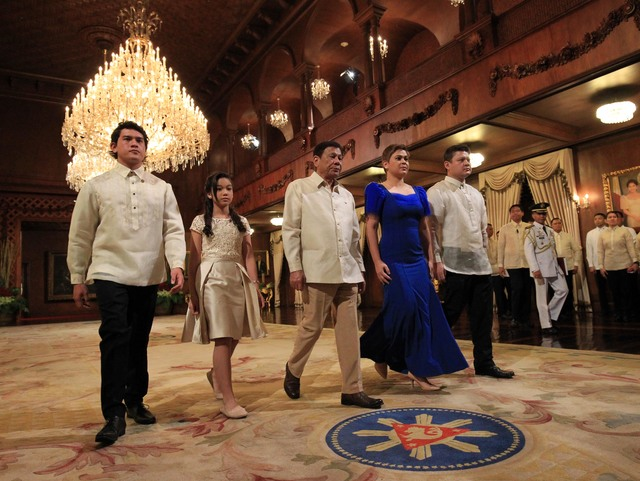 The walk to the Malacañang Palace during the Inauguration of President Rodrigo Duterte.