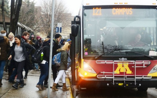 Image result for umn campus connector in the winter