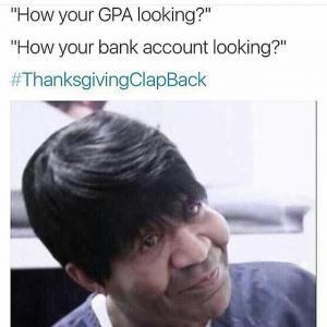 Thanksgiving Clapbacks