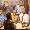The 'tacky' Trump painting artist created similar work for Obama