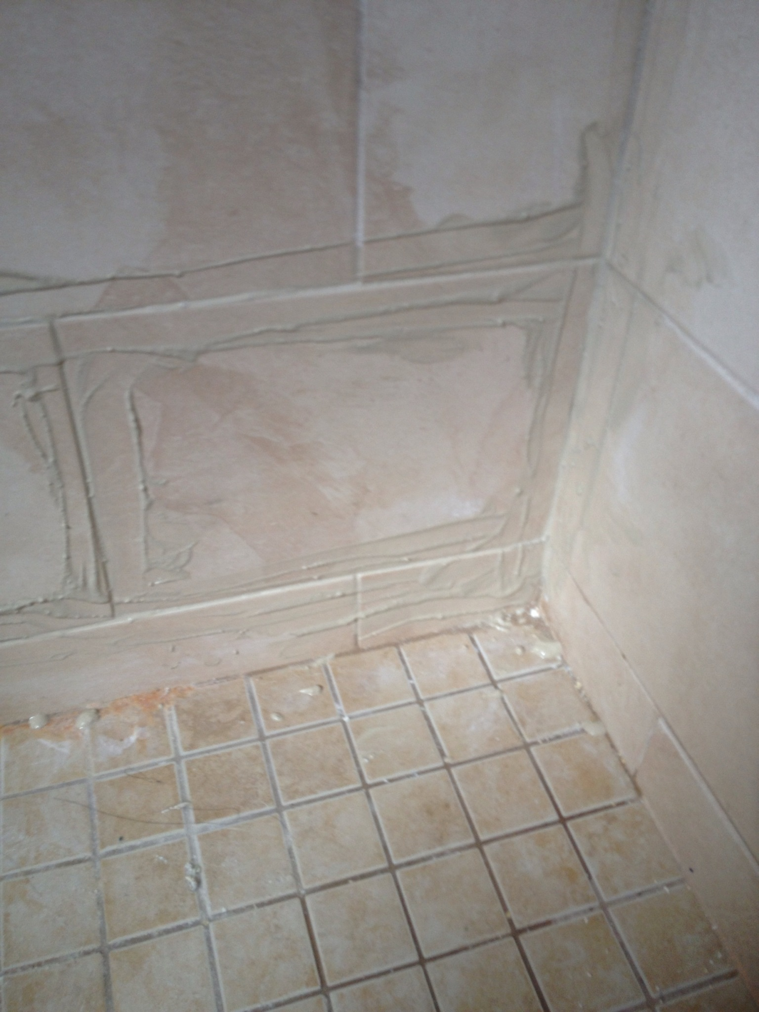 how to repair a loose shower tile b c