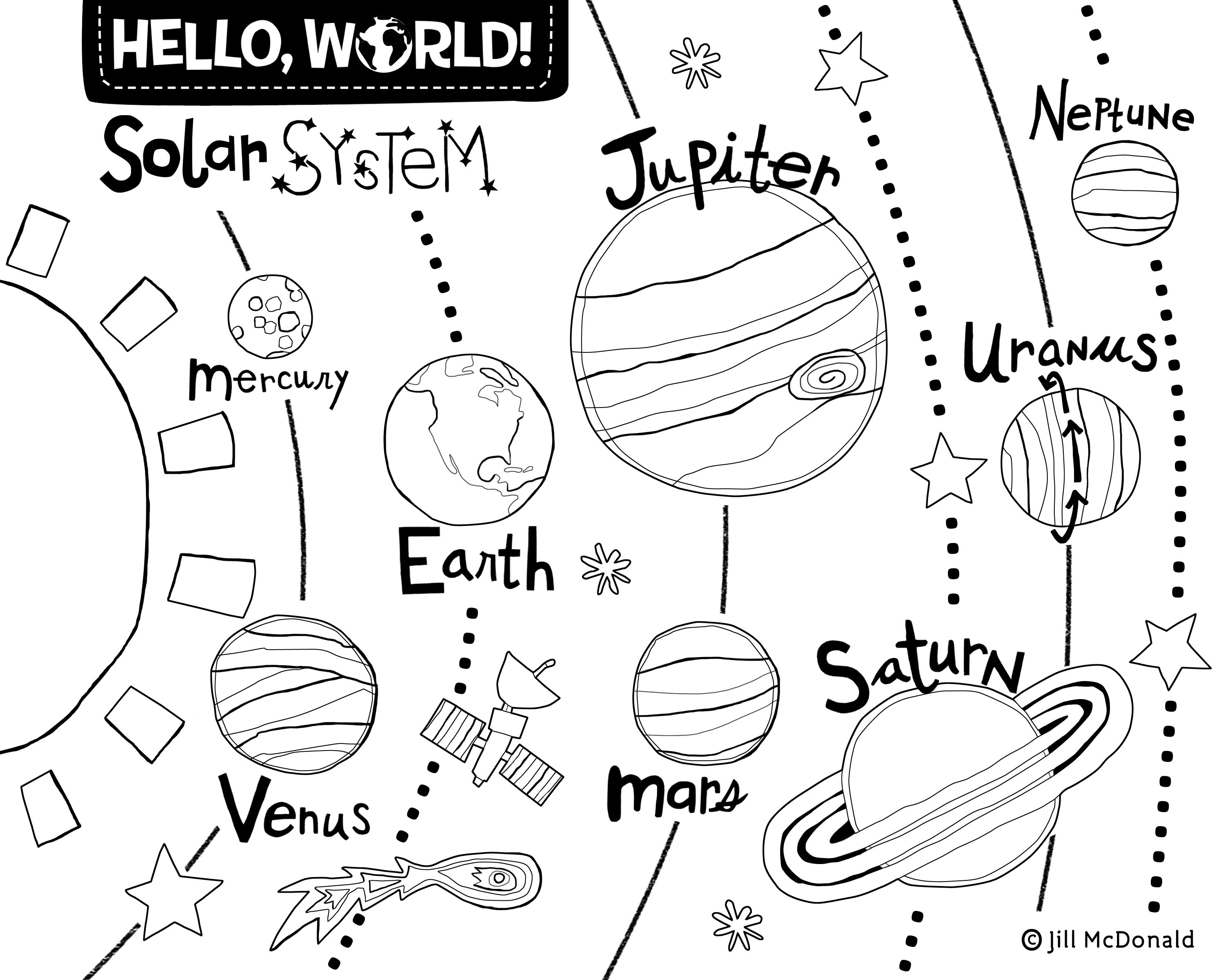 Hello World Printables And Activities
