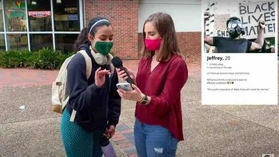 VIDEO: As Valentine's Day nears, left-wing female college students reject dating profiles of guys showing love for Trump, guns, GOP