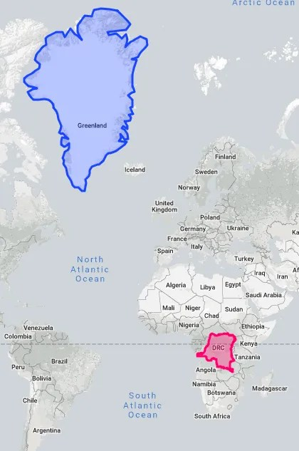 Size Of Countries Compared : countries, compared, Compare, Countries, Think