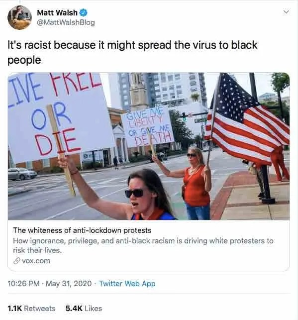 Health experts back protests despite coronavirus since 'white supremacy is a lethal public health issue that predates and contributes to COVID-19'