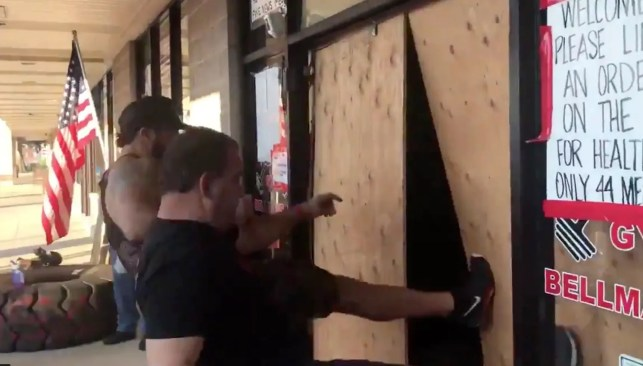 New Jersey gym owners, who were arrested for defying shutdown, kick down gov't-installed barriers to reopen