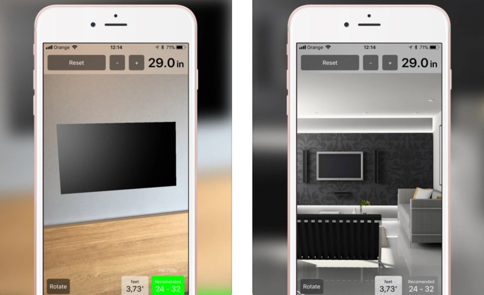 TV Size Calculator app for iPhone and iPad