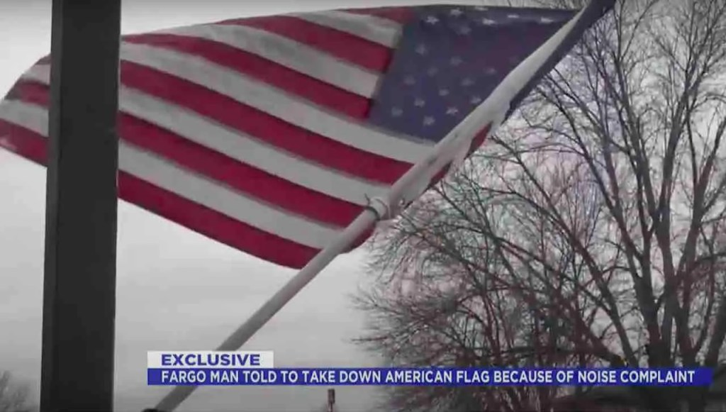 American flag must come down, condo association tells owner — because it's making too much 'noise' when wind blows