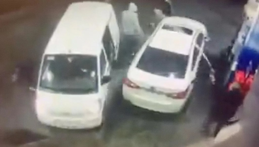 Incredible video captures the moment man at a gas station sprays would-be robbers with gasoline during botched carjacking attempt