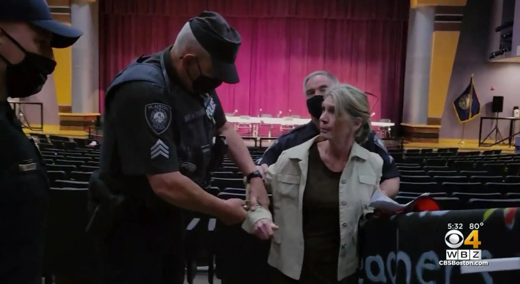 Grandmother arrested after not wearing face mask at school board meeting: 'You're not enforcing laws'