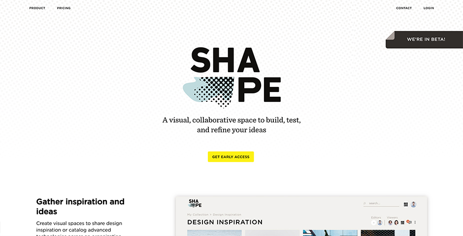 Shape by IDEO: A visual, collaborative workspace to build