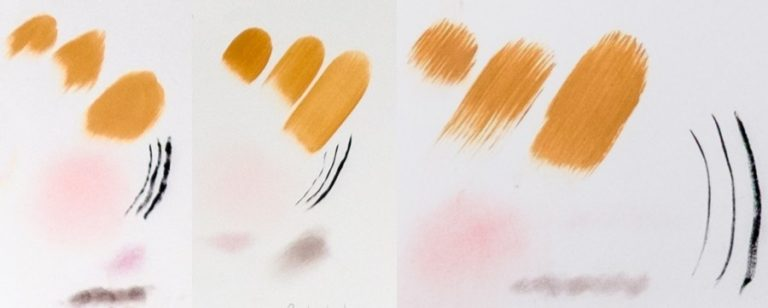 Makeup Test Collage for Makeup Brushes